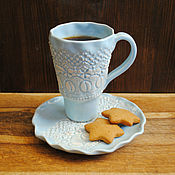 Посуда handmade. Livemaster - original item Tea pair Vintage turquoise. Handmade.