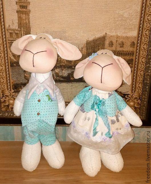 Игрушки животные, ручной работы. Ярмарка Мастеров - ручная работа. Купить овечки парные Джейн и Эдвард. Handmade. Комбинированный