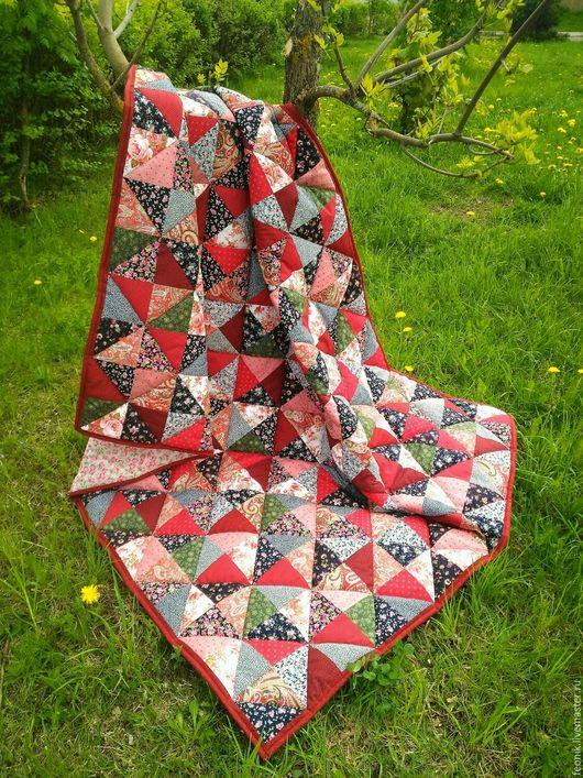 """Текстиль, ковры ручной работы. Ярмарка Мастеров - ручная работа. Купить Русское лоскутное одеяло """"Боярыня"""" пэчворк. Handmade."""