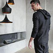 Мужская одежда handmade. Livemaster - original item Men`s suit: linen suit trousers and hoodies. Handmade.