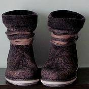 """Обувь ручной работы. Ярмарка Мастеров - ручная работа Сапожки короткие """"Сумерки"""". Handmade."""