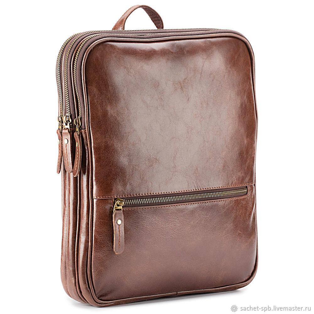 Leather backpack-bag 'Maya' (brown), Backpacks, St. Petersburg,  Фото №1