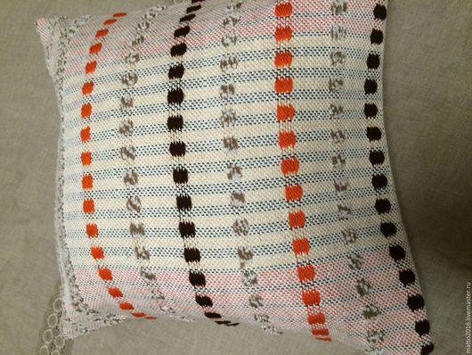 Текстиль, ковры ручной работы. Ярмарка Мастеров - ручная работа. Купить подушка декоративная ручной работы. Handmade. Белый, хендмейд