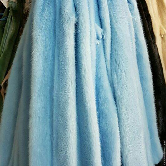 Шкура норки голубого цвета