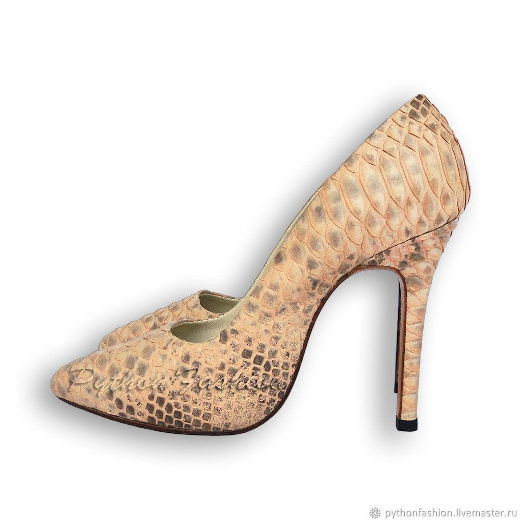 Обувь ручной работы. Ярмарка Мастеров - ручная работа. Купить Туфли из питона CAROLINE. Handmade. Питон, туфли из питона, из питона