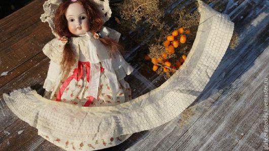 Куклы и игрушки ручной работы. Ярмарка Мастеров - ручная работа. Купить Э 34.Старинный батистовый воротничок. Handmade. Бежевый