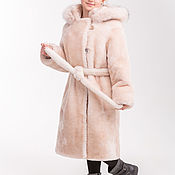 Одежда handmade. Livemaster - original item Mouton coat with belt. Handmade.