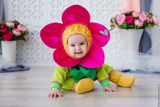Карнавальный новогодний костюм Цветочка для малышей и детей
