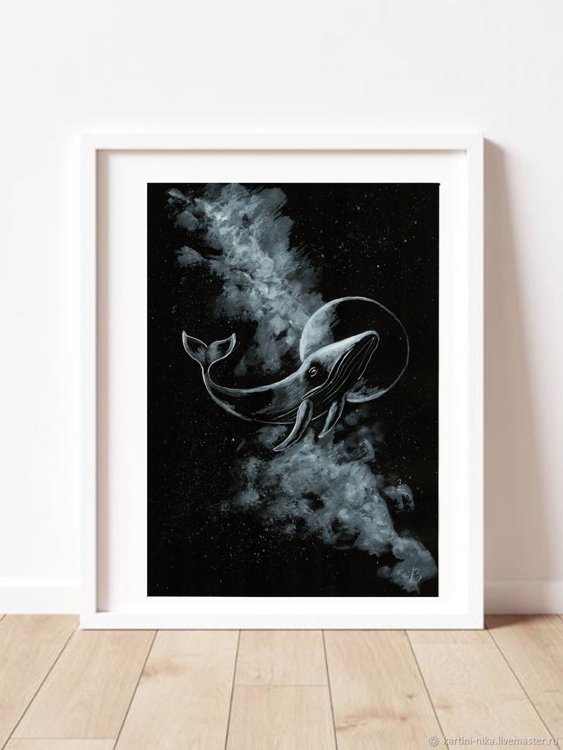 Black and white picture of the Space Whale, Pictures, St. Petersburg,  Фото №1