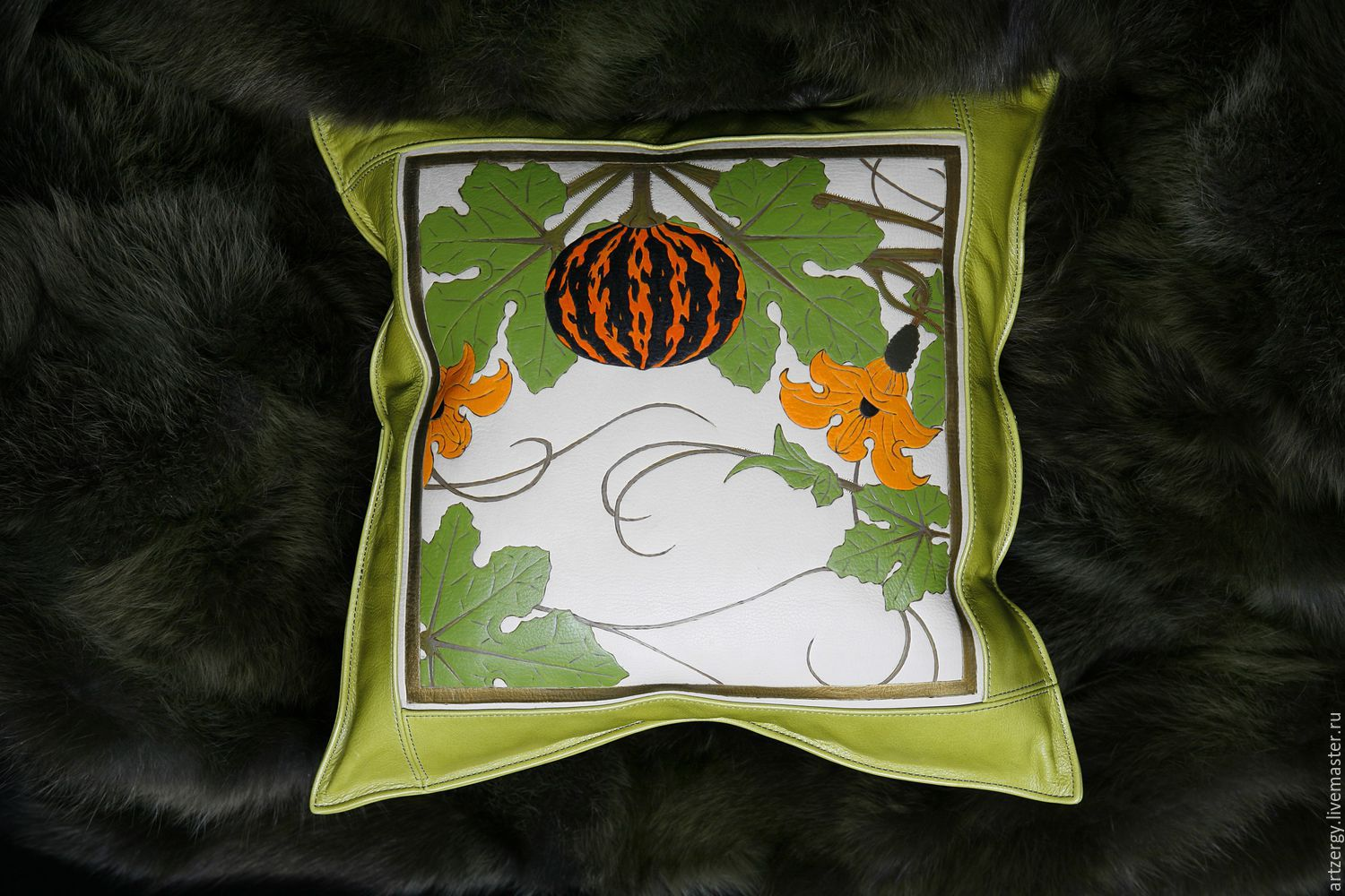 PUMPKIN cushion leather, Pillow, Moscow,  Фото №1