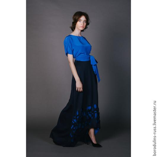 Блузки ручной работы. Ярмарка Мастеров - ручная работа. Купить Блуза с бантом Б 16-09. Handmade. Красивая блуза