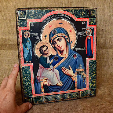Pictures and panels handmade. Livemaster - original item Icon Of Mother Of God Of Jerusalem. Handmade.
