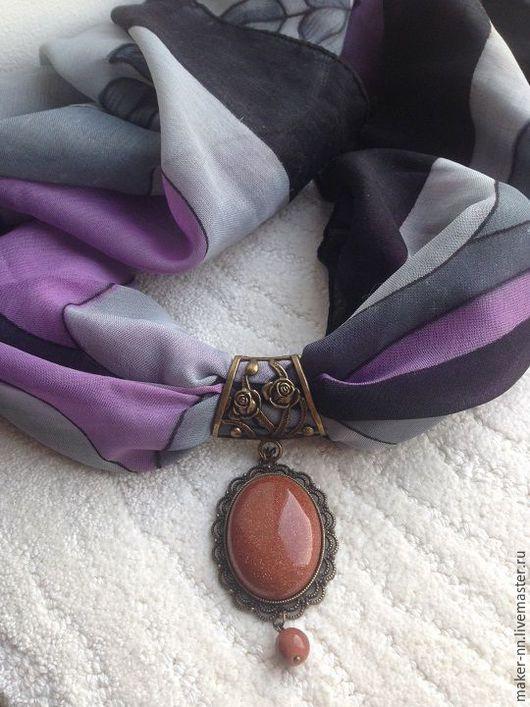 Кулоны, подвески ручной работы. Ярмарка Мастеров - ручная работа. Купить Подвеска с авантюрином для платка,шарфа. Handmade. Комбинированный