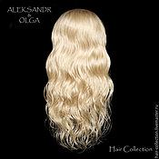 Украшения ручной работы. Ярмарка Мастеров - ручная работа НАКЛАДКА затылочная - для Волос - постиж, из натуральных волос, купить. Handmade.