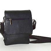 Сумки и аксессуары handmade. Livemaster - original item Mens leather bag black Time Mod S59m-111. Handmade.
