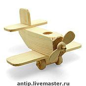 """Куклы и игрушки ручной работы. Ярмарка Мастеров - ручная работа """"Самолёт""""- деревянная игрушка. Handmade."""