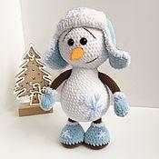 Мягкие игрушки ручной работы. Ярмарка Мастеров - ручная работа Снеговик. Handmade.