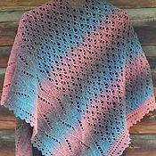 Аксессуары handmade. Livemaster - original item Dawn shawl asymmetric shawl Cape on the shoulders. Handmade.