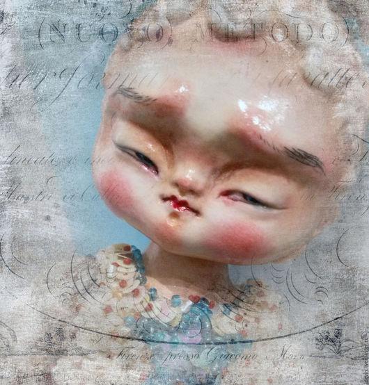 Коллекционные куклы ручной работы. Ярмарка Мастеров - ручная работа. Купить Кудряшка. Handmade. Комбинированный, Уникальная кукла, стеклярус