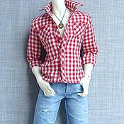 Куклы и игрушки ручной работы. Ярмарка Мастеров - ручная работа Одежда для кукол БЖД  Мужские рубашка и джинсы для размера СД. Handmade.
