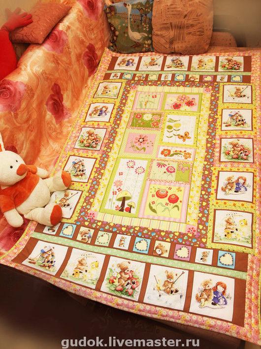 """Пледы и одеяла ручной работы. Ярмарка Мастеров - ручная работа. Купить Одеяло """"Воспоминание о лете"""" для маленькой принцессы. Handmade. Хлопок"""