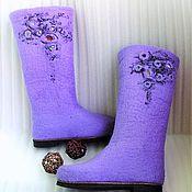 """Обувь ручной работы. Ярмарка Мастеров - ручная работа Валяные сапожки """"Сиреневый туман"""". Handmade."""