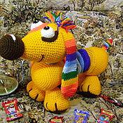 """Мягкие игрушки ручной работы. Ярмарка Мастеров - ручная работа """"СКИТЛС"""" ! Радужный Таксик для Любимых.. Handmade."""