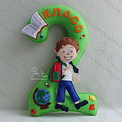 Материалы для творчества handmade. Livemaster - original item Schoolboy, pattern for decoration 1 September. Handmade.