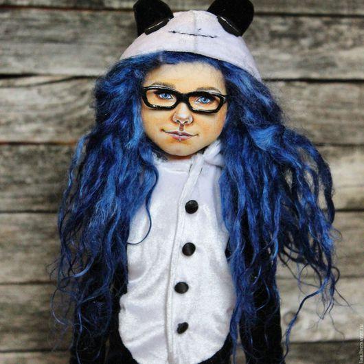 Портретные куклы ручной работы. Ярмарка Мастеров - ручная работа. Купить Кукла портретная. Handmade. Тёмно-синий, кукла по фотографии