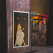 "Картины и панно handmade. Livemaster - original item Картина ""Сова"" линогравюра. 48х38см. Handmade."