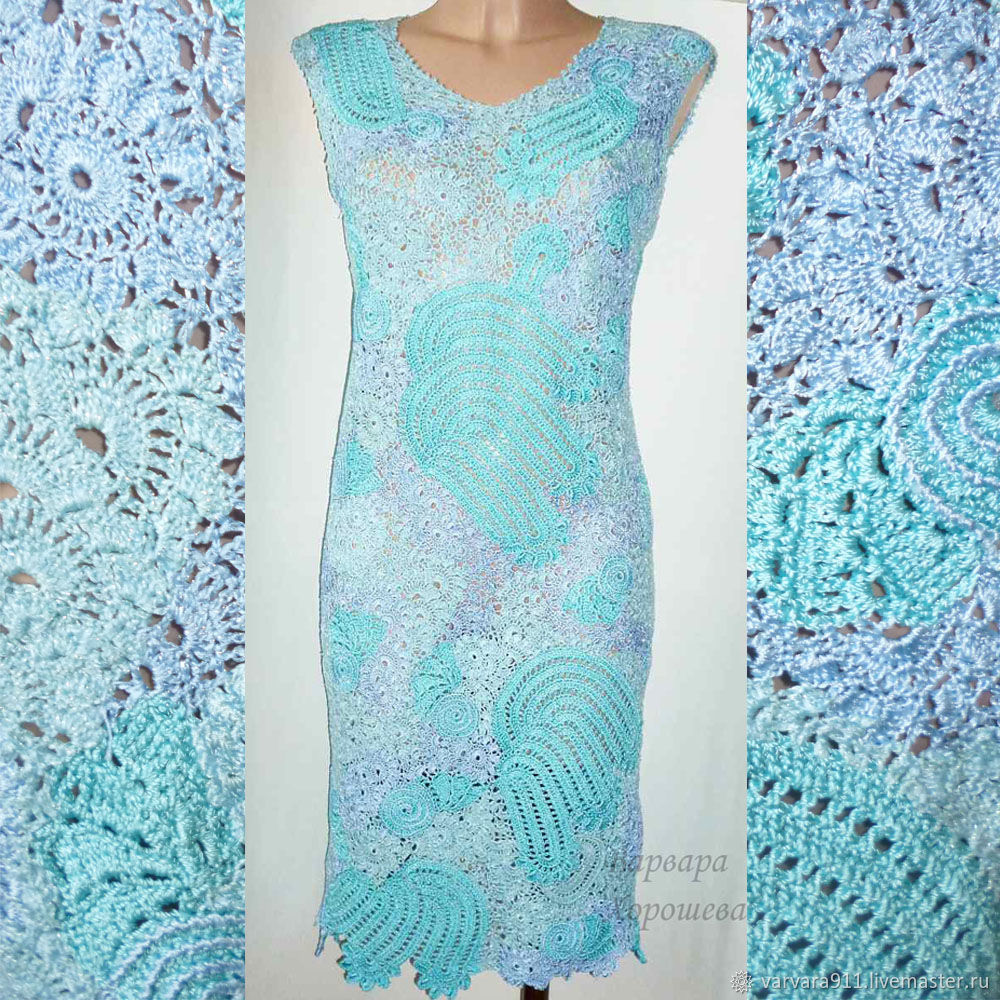fd89dc3e90d Платья ручной работы. Ярмарка Мастеров - ручная работа. Купить Кружевное вязаное  платье.