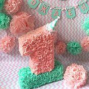 Подарки к праздникам ручной работы. Ярмарка Мастеров - ручная работа Цифра. Оформление фотозоны. Мятно-розовое настроение. Handmade.