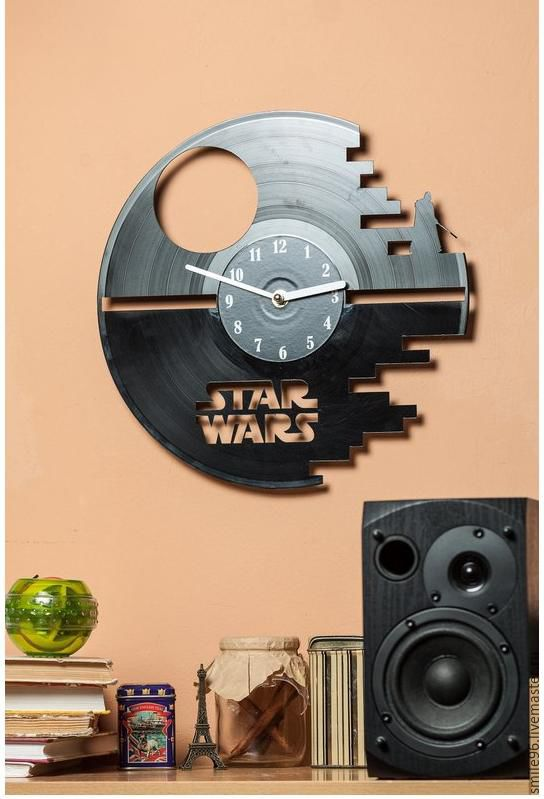 "Часы из виниловой пластинки ""Star Wars"", Часы из виниловых пластинок, Краснодар,  Фото №1"