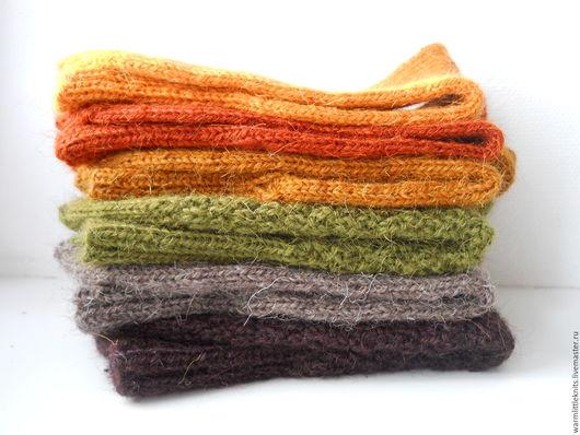 Носки, Чулки ручной работы. Ярмарка Мастеров - ручная работа. Купить Носки вязаные шерстяные Осенний день. Handmade.
