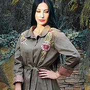 Одежда handmade. Livemaster - original item Exclusive cloak with hand embroidery,