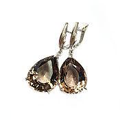 Украшения handmade. Livemaster - original item Large earrings: smoky quartz, rauchtopaz -