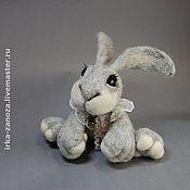 Куклы и игрушки ручной работы. Ярмарка Мастеров - ручная работа Авторская игрушка из шерсти - зайчонок. Handmade.