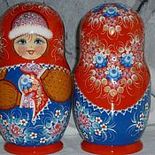 Русский стиль handmade. Livemaster - original item Matryoshka maiden, 7 seats, hand-painted, varnished. Handmade.