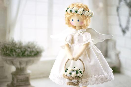 Сказочные персонажи ручной работы. Ярмарка Мастеров - ручная работа. Купить Ангел. Текстильная кукла.. Handmade. Белый, текстильная кукла