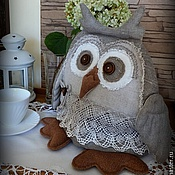 Для дома и интерьера ручной работы. Ярмарка Мастеров - ручная работа Сова УФИНЬЯ грелка для чайника. Handmade.