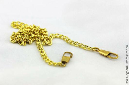 Шитье ручной работы. Ярмарка Мастеров - ручная работа. Купить Цепочка для сумки, 40 см,  желтое золото, пришивной фермуар, фермуар. Handmade.