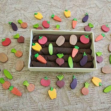 Куклы и игрушки ручной работы. Ярмарка Мастеров - ручная работа Деревянный огород. Handmade.