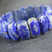 Украшения handmade. Livemaster - original item Natural Blue Lapis Lazuli Cut Bracelet. Handmade.