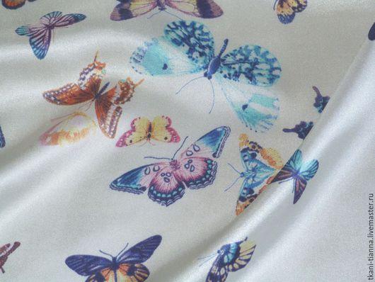 """Шитье ручной работы. Ярмарка Мастеров - ручная работа. Купить Шёлк """" Бабочки"""". Handmade. Шелк натуральный, ткань италия"""