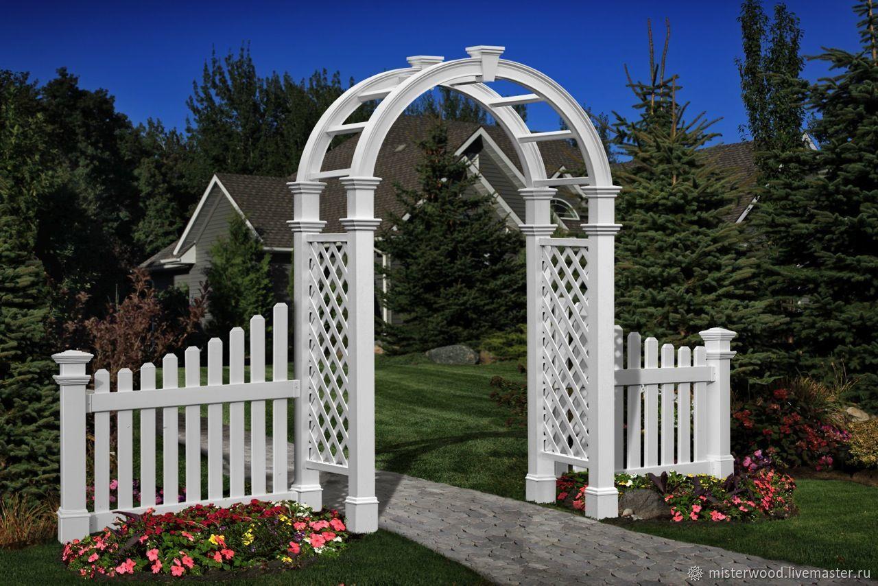 фото арка и заборчик рядом оснащены