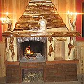Для дома и интерьера ручной работы. Ярмарка Мастеров - ручная работа Отделка камина с канделябрами. Handmade.
