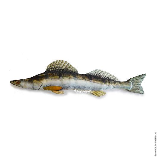 Подарки для мужчин, ручной работы. Ярмарка Мастеров - ручная работа. Купить Рыба подушка  Судак подарок мужчине подарок рыбаку на день рождения. Handmade.