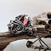 """Украшения ручной работы. Ярмарка Мастеров - ручная работа кольцо с гранатом """"Time of roses"""" silver. Handmade."""