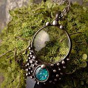 handmade. Livemaster - original item Kosmoklyk pendant with tinted agate (p-012-04 Bl). Handmade.