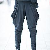 Одежда handmade. Livemaster - original item Stylish, black cotton pants - PA0764TR. Handmade.